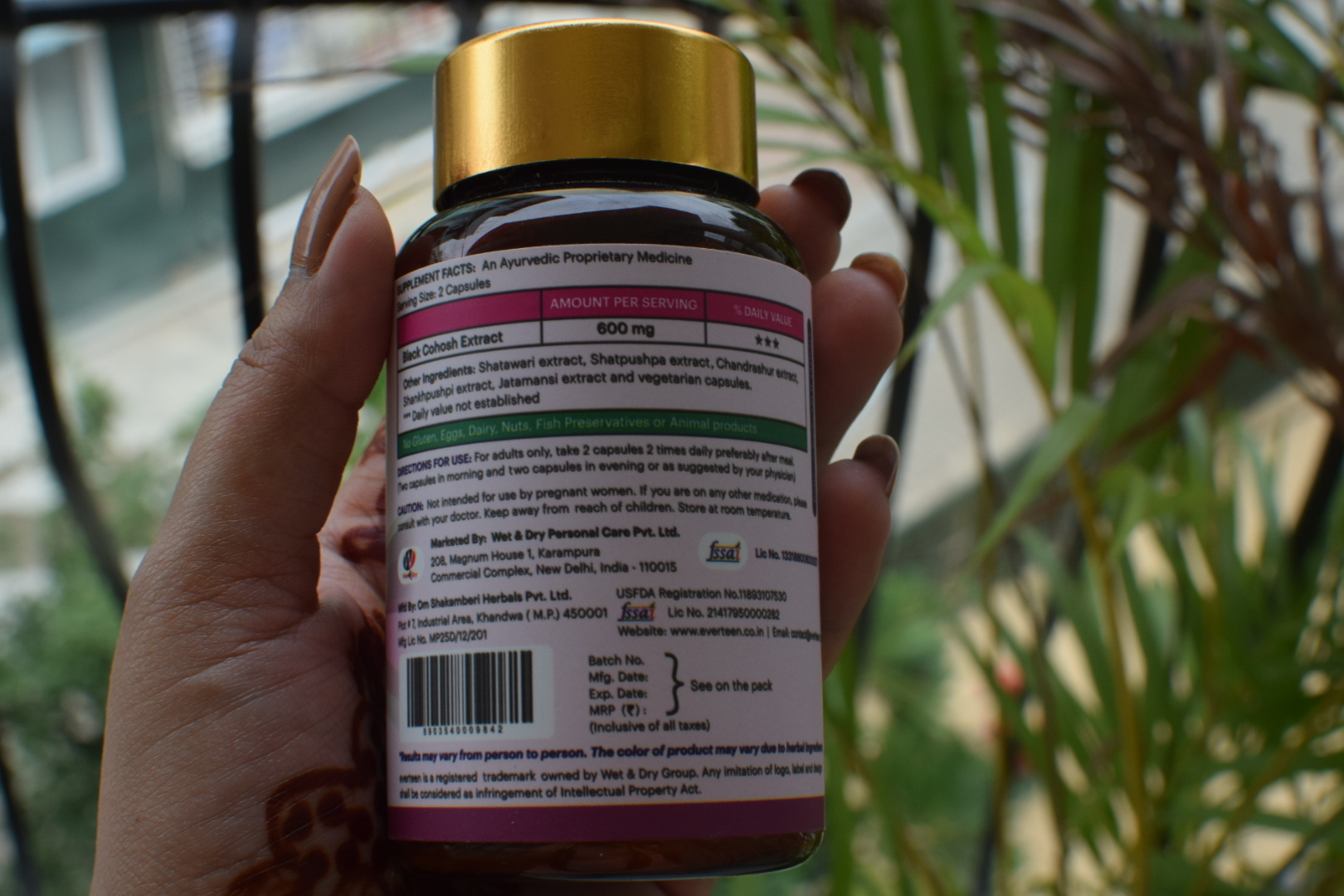 Everteen Menopausal Relief Natural Capsules With Black Cohosh Review